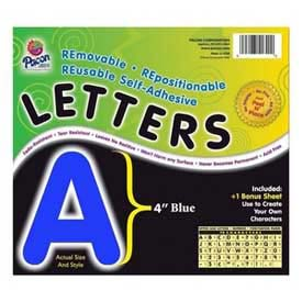 "Pacon® 4"" Self-Adhesive Letters, Blue, 78 Characters/Pack"
