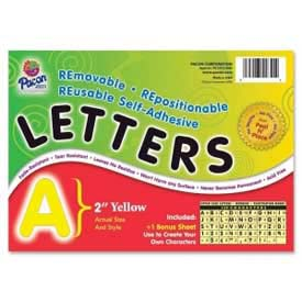"Pacon® 2"" Self-Adhesive Letters, Yellow, 159 Characters/Set"