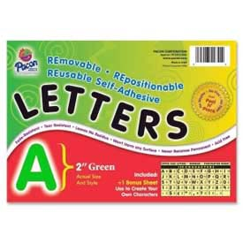 "Pacon® 2"" Self-Adhesive Letters, Green, 159 Characters/Set"