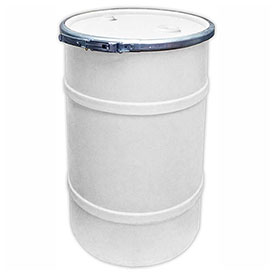 US Roto Molding 20 Gallon Plastic Drum SS-OH-20 - Open Head with Bung Cover - Bolt Ring - Natural