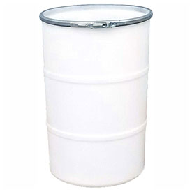 US Roto Molding 55 Gallon Plastic Drum SS-OH-55 - Open Head with Plain Lid - Bolt Ring - Natural