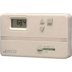PECO Modulating Fan Coil Thermostat W/ Auto-Heat-Cool-Off Switch, Off-Hi-Med-Lo Fan Control