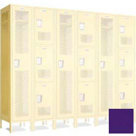 "Penco 602112V+-056 Invincible II Group End For 4 Tier Lockers, Perf, 16 Ga, 15""D X 72""H, Sunburst"