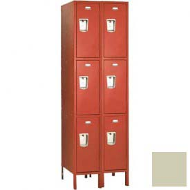 "Penco 6407G-2W-KD-073 Guardian Locker Triple Tier 2 Wide, 12""W x 12""D x 20""H, Champagne"
