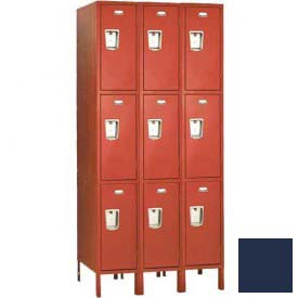 "Penco 6455G-3W-KD-822 Guardian Locker Triple Tier 3 Wide, 15""W x 21""D x 20""H, Regal Blue"