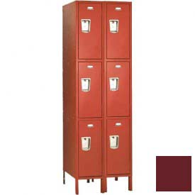 "Penco 6499G-2W-KD-736 Guardian Locker Triple Tier 2 Wide, 12""W x 21""D x 24""H, Burgundy"