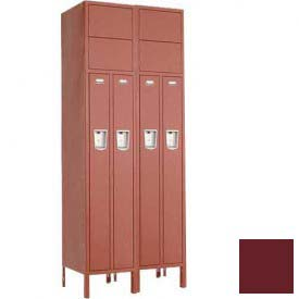 "Penco 6501G-2W-KD-736 Guardian Locker 2 Person 2 Wide, 15""W x 15""D x 72""H, Burgundy"