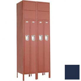 "Penco 6503G-2W-KD-822 Guardian Locker 2 Person 2 Wide, 15""W x 18""D x 72""H, Regal Blue"