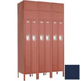 "Penco 6503G-3W-KD-822 Guardian Locker 2 Person 3 Wide, 15""W x 18""D x 72""H, Regal Blue"