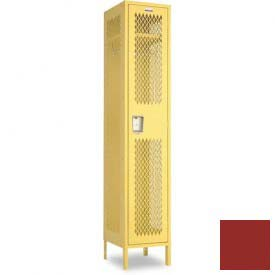 "Penco 6A011-722 Invincible II Locker, 1 Tier Basic Unit, 12""W X 12""D X 36-1/2""H, Patriot Red"