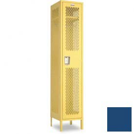 "Penco 6A019-052 Invincible II Locker, 1 Tier Basic Unit, 12""W X 15""D X 48-1/2""H, Reflex Blue"