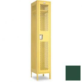 "Penco 6A103-812 Invincible II Locker, 1 Tier Basic Unit, 9""W X 15""D X 60""H, Hunter Green"