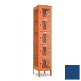 "Penco 6A363-052 Invincible II Locker, 5 Tier Basic Unit, 12""W X 12""D X 14-2/5""H, Reflex Blue"