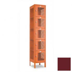 "Penco 6A363-736 Invincible II Locker, 5 Tier Basic Unit, 12""W X 12""D X 14-2/5""H, Burgundy"