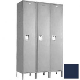 "Penco 6C173-3W-KD-822 Guardian Plus Locker, Single Tier 3 Wide, 15""W x 18""D x 72""H, Regal Blue"