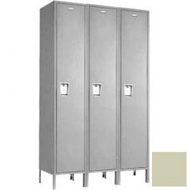 "Penco 6C175-3W-KD-073 Guardian Plus Locker, Single Tier 3 Wide, 15""W x 21""D x 72""H, Champagne"