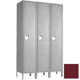 "Penco 6C184-3W-KD-736 Guardian Plus Locker, Single Tier 3 Wide, 12""W x 15""D x 48-1/2""H, Burgundy"