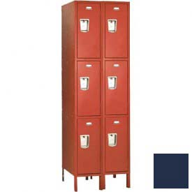 "Penco 6C449-2W-KD-822 Guardian Plus Locker, Triple Tier 2 Wide, 12""W x 21""D x 20""H, Regal Blue"