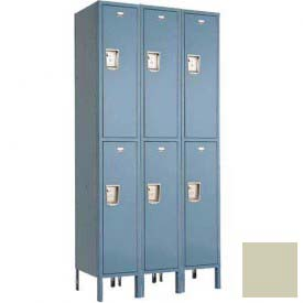 "Penco 6E217-3W-KD-073 Guardian Defiant II Locker Double Tier 3 Wide, 12""W x 21""D x 30""H, Champagne"