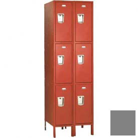 "Penco 6E449-2W-KD-028 Guardian Defiant II Locker Triple Tier 2 Wide, 12""W x 21""D x 20""H, Gray"