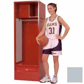 Penco 6KFD33 Stadium® Locker With Shelf Security Box & Footlocker 24x24x72 Gray Ash Unassembled