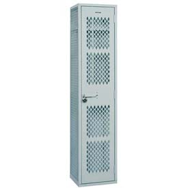 "Penco 6WAT128-1W-028 Angle Iron Locker, Cremone Handle, 1 Tier, 1 Wide, 15""W x 12""D x 72H"", Gray"