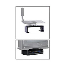 "DVD/VCR Mount For Designer Series - 17.25""W x 2.75""H - Black"