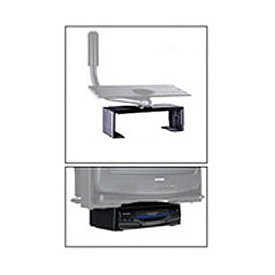 "DVD/VCR Mount For Designer Series - 14.25""W x 4.5""H - Black"