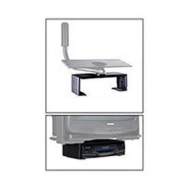 "DVD/VCR Mount For Designer Series - 17.25""W x 4.5""H - Black"