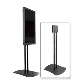 "Single/Back-To-Back/Quad Mount Flat Panel Display Stand For 32"" - 60"" Screens"
