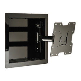 "In-Wall Mount For 22""-40"" LCD Screens w/ VESA Mounting Patterns - Gloss Black"