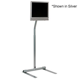 "LCD Pedestal Stand for 10"" to 30"" Flat Panel Screens - Black"