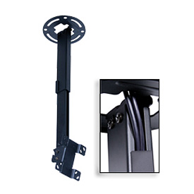 "Pro Universal Ceiling Mount For 15""-24"" Screens, 14""-22"" Extension - Black"