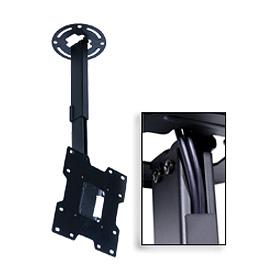 "Pro Universal Ceiling Mount For 15""-37"" Screens, 20""-34"" Extension - Black"