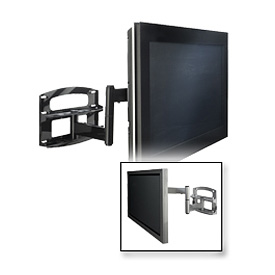 "Articulating Wall Mount W/ Vertical Adjustment For 37""-65"" Screens - Gloss Black"
