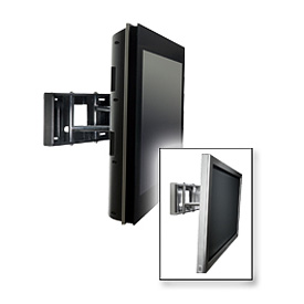 """Smartmount® Universal Pull-Out Swivel Mount For 32""""-65"""" Screens - Gloss Black"""