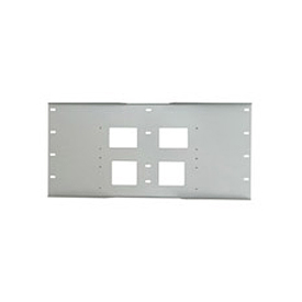 "Triple Metal Stud Wall Plate For PLA Series, 16"" Stud Centers - Gloss Silver"