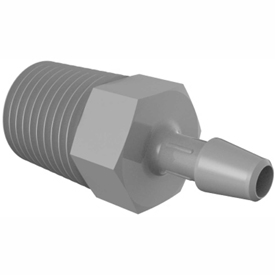 Bio-Medical Barbed Adapters, 1/4-18 and 3/8-18 NPT