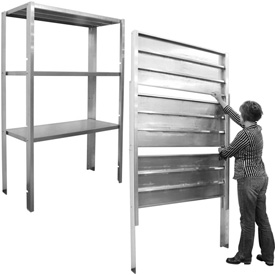 PVI - Retractable Aluminum Shelving