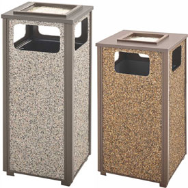 Rubbermaid® Stone Panel Aspen Ash & Trash Receptacles
