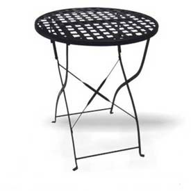 Outdoor Wrought Iron Accent Tables