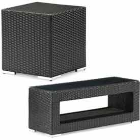 Outdoor Wicker & Synthetic Weave Accent Tables