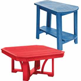 Outdoor Recycled Plastic Accent Tables