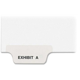 Preprinted Exhibit Letters