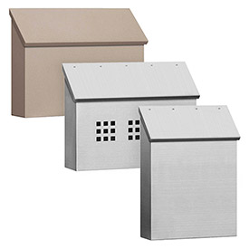 Salsbury Top Opening Traditional, Antique Brass & Stainless Steel Surface Mounted Mailboxes