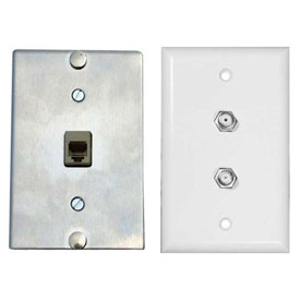 Phone, Coax, Entertainment Wallplates & Phone Jacks