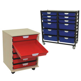 Mobile Storage Tote Carts