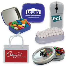 Mint/Candy in Promotional Metal Tins