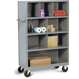 Tri-Boro Steel Shelf Trucks with Shelf Bin Dividers