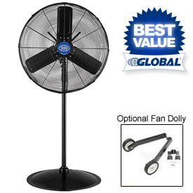 Outdoor Rated Oscillating Industrial Pedestal Fans